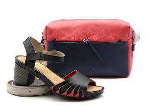 ست کیف و کفش چرم زنانه