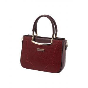 کیف چرم زنانه زرشکی