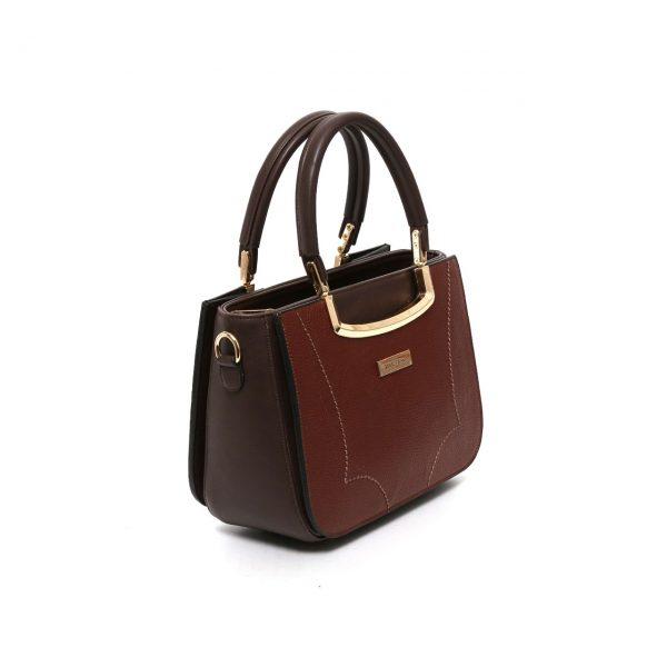 کیف چرم عسلی زنانه