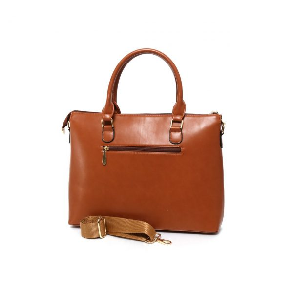 کیف چرم پستچی دکمه دار