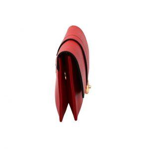 کیف چرم قرمز مجلسی