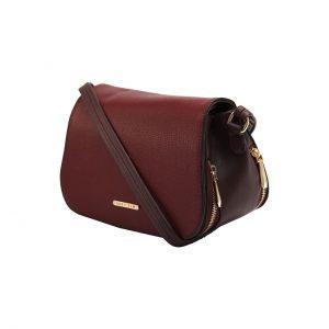 کیف دوشی زرشکی زنانه