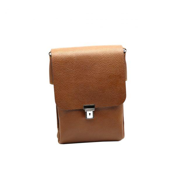 کیف دوشی چرم مردانه عسلی