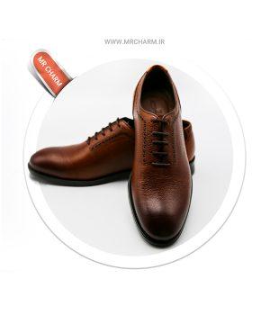 کفش چرم بند دار مردانه