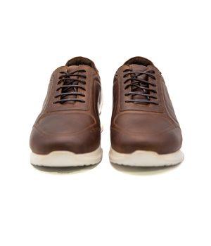 کفش چرم اسپورت مردانه تیره