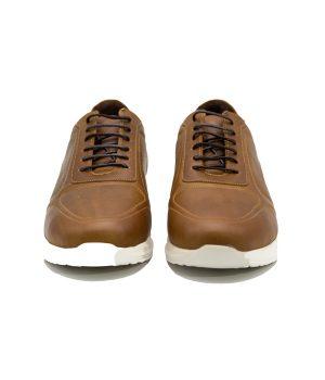 کفش چرم راحتی مردانه بند دار