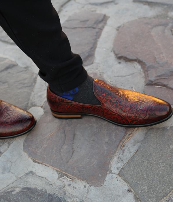 کفش تمام چرم مردانه مجلسی قهوه ای