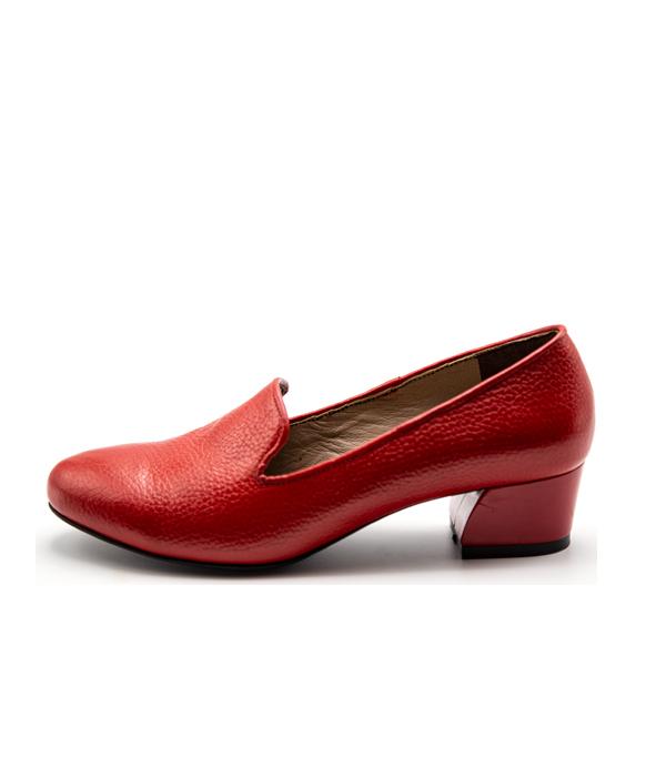 کفش زنانه مجلسی تمام چرم پاشنه 5 سانتی