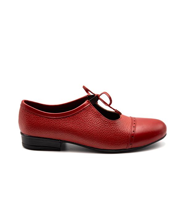 کفش تمام چرم زنانه رویه بندی