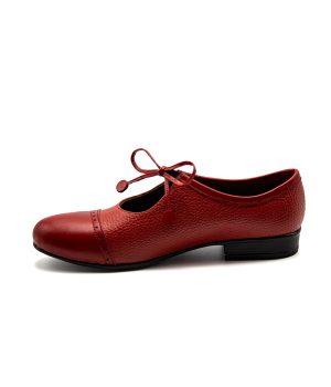 کفش تمام چرم زنانه رویه بندی زیبا