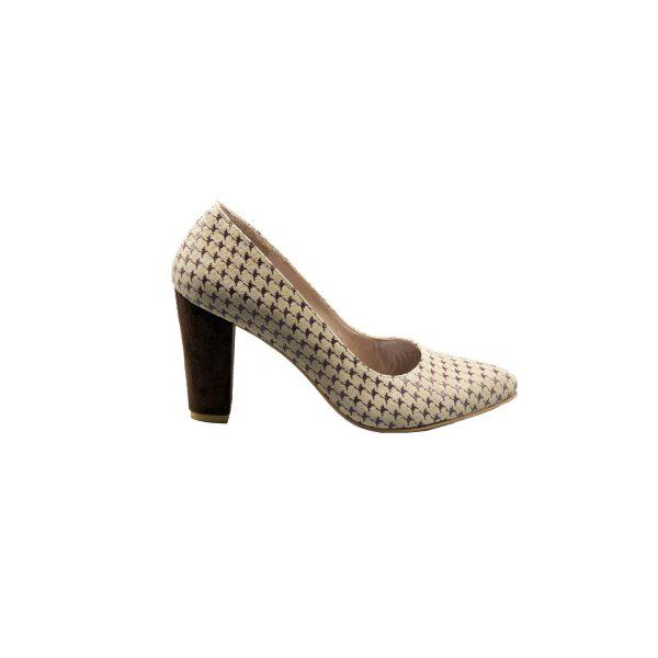کفش پاشنه بلند چرم زنانه پاشنه 8 سانتی