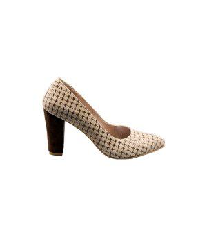 کفش پاشنه بلند چرم زنانه